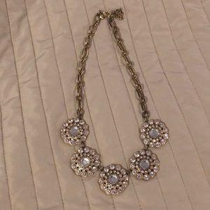 J Crew Crystal Flower Necklace